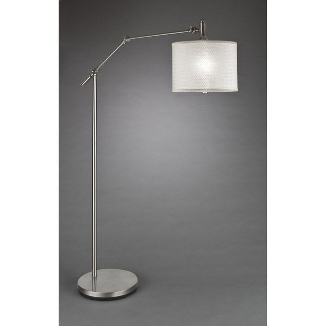 Silver Floor Lamp With Reading Light
